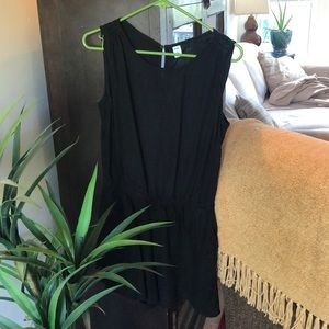 Black romper with pockets